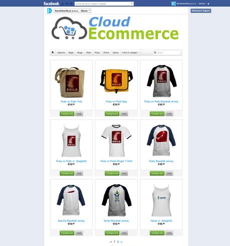 Cloud Ecommerce - Vendi su Facebook
